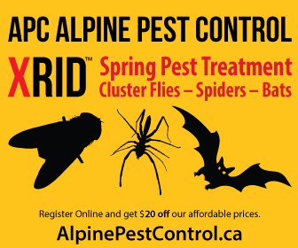 APC ALPINE PEST CONTROL Spider Cluster Fly Bat 2014